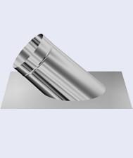 Inox dakplaat 45° 350mm