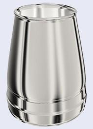 inox dubbelwandig conische terminal 300-350mm 15cm hoog