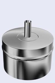 inox dubbelwandig condensatie afvoer 300-350mm