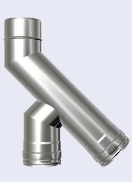inox dubbelwandig T 135° 300-350mm