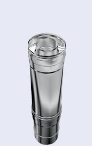 inox dubbelwandig instelbaar 0.5m 300-350mm