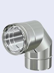 inox concentrisch bocht 90°-150-200mm