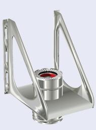 inox dubbelwandig driehoek steun console 300-350mm