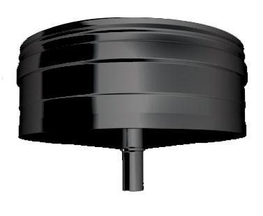 Zwart EW AFSLUITDOP MET CONDENSAFVOER 250mm