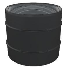 Zwart M-M koppelstuk mof