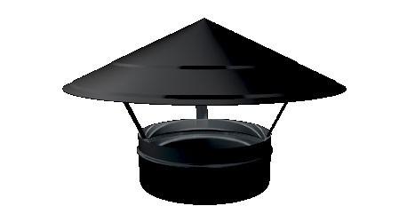 Zwart EW regenkap 250mm