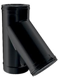 Zwart Enkelwandig Y stuk t135°