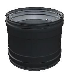 Zwart EW koppelstuk mof V-V