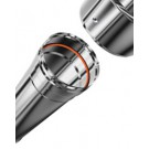 Inox enkelwandig 0.25m 250mm
