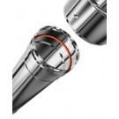 Inox enkelwandig instelbaar 0.5m 080mm