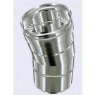 inox dubbelwandig bocht 15°-080-130mm