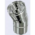 inox dubbelwandig bocht 30° 150-200mm