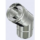 inox dubbelwandig bocht 45°-080-130mm